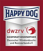 Kooperationslogo Happy Dog und DWZRV